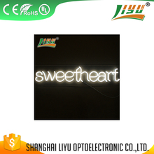 Heat resistant double sided outdoor open led neon sign
