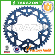 Motorcycle spare parts 7075 aluminum chain sprocket for yamaha yz250f