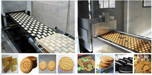 China food confectionery industrial good quality ce full automatic soft and hard egg roll biscuit making machine