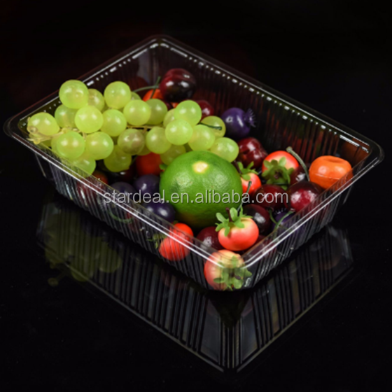 Blister packaging clear plastic clamshell food containers for blueberry cherry strawberry