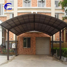 Outdoor waterproof foldable aluminium frame canopy carport with laminated glass roof