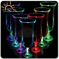 2015 hot new product hot item led hurricane tumbler, plastic hurricane glass