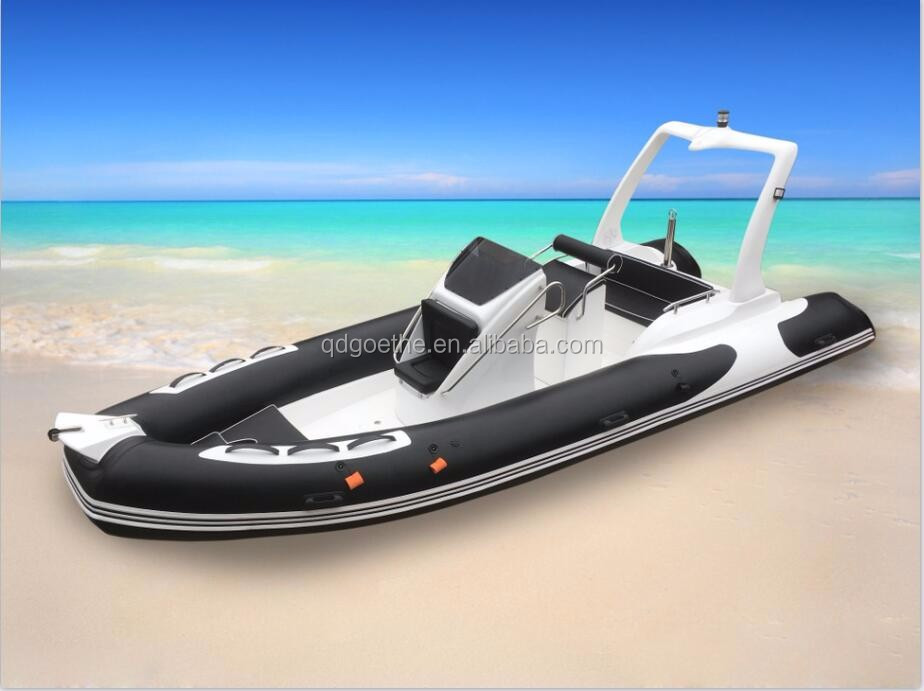RIB580B CE certified China rib boat with hypalon or pvc tube material for sale