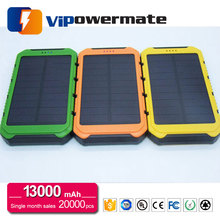 mobile phone solar panel power bank waterproof solar charging power bank 10000mah