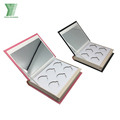 Custom design cosmetic packaging box makeup eyeshadow palette magnetic case