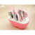 9pcs apple shaped cheap price plastic manicure set