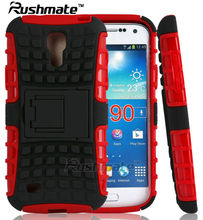 Red Black Phone Accessories For Samsung Galaxy S4 Mini I9190 PC TPU Mobile Case Phone Cover