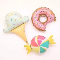 Ice cream donut baby 1st party birthday decoration candy foil balloon
