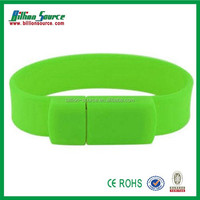 Cheap personalised waterproof silicone usb bracelets