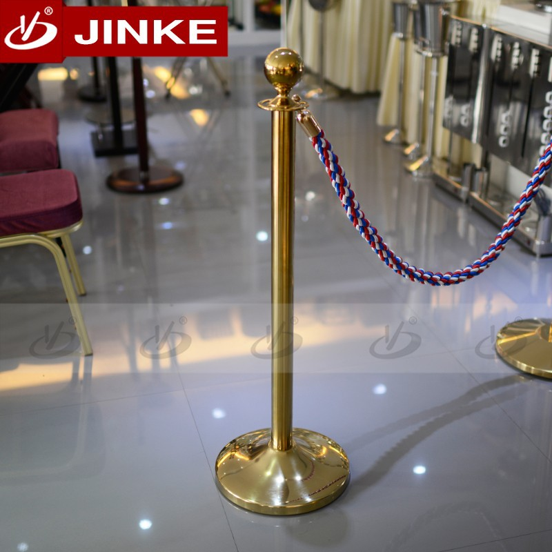 Stainless steel golden parking bollard for bank hotel concert