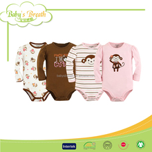 BSB823 2015 hot sale soft organic cotton knitted newborn baby romper, cheap infant romper