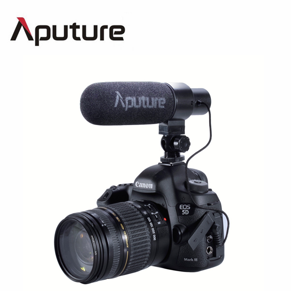 Aputure stereo Video Shotgun Mic Microphone For Nikon/Canon Camera DV Camcorder