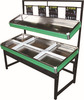 Cheap Price RH-VFDS SS Base Double Layer Supermarket Fruit Vegetable Display Rack