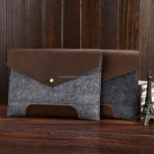 Soft Vertical Sleeve Case For macbook ipad mini felt bag