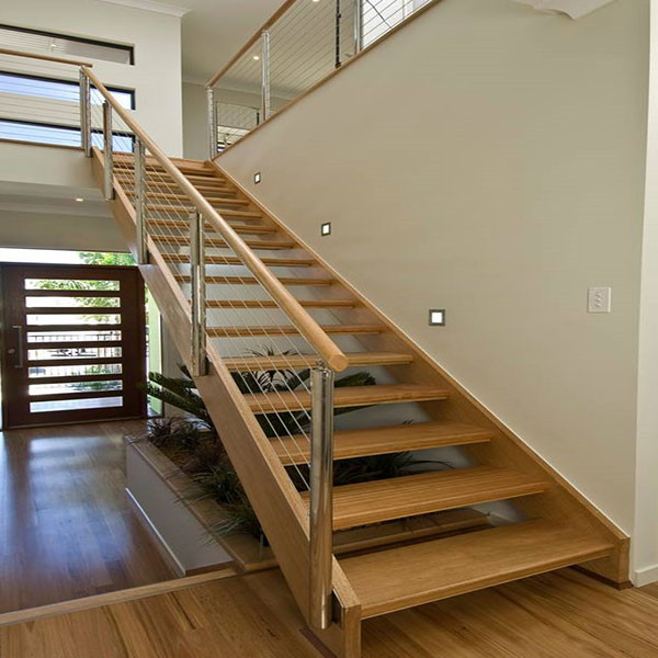modern staircase Wood Stair Treads / acacia wood stair treads