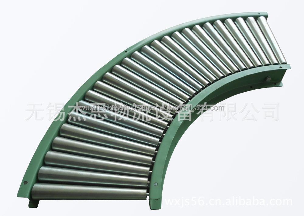 Jr Tcr 90 Degree Turning Roller Conveyor Rubber Free Taper