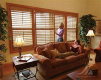 Adjustable basswood window louver vinyl shutter