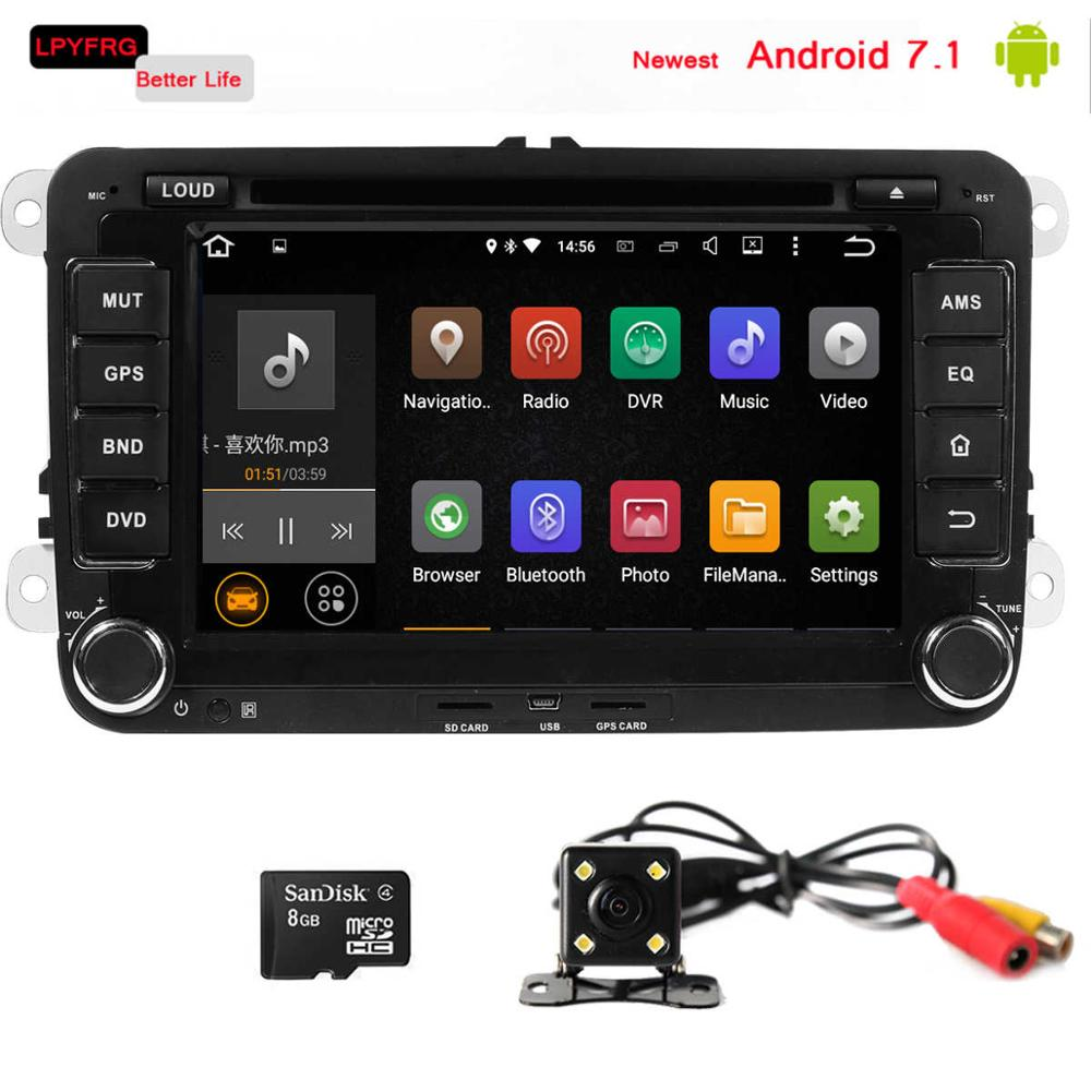 Android 7.1 2 din car gps for VW Universal passat polo golf CCcar gps navigator with DVD Radio RDS BT car gps navigation system