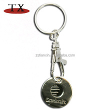 High quality metal token coin holder key chain