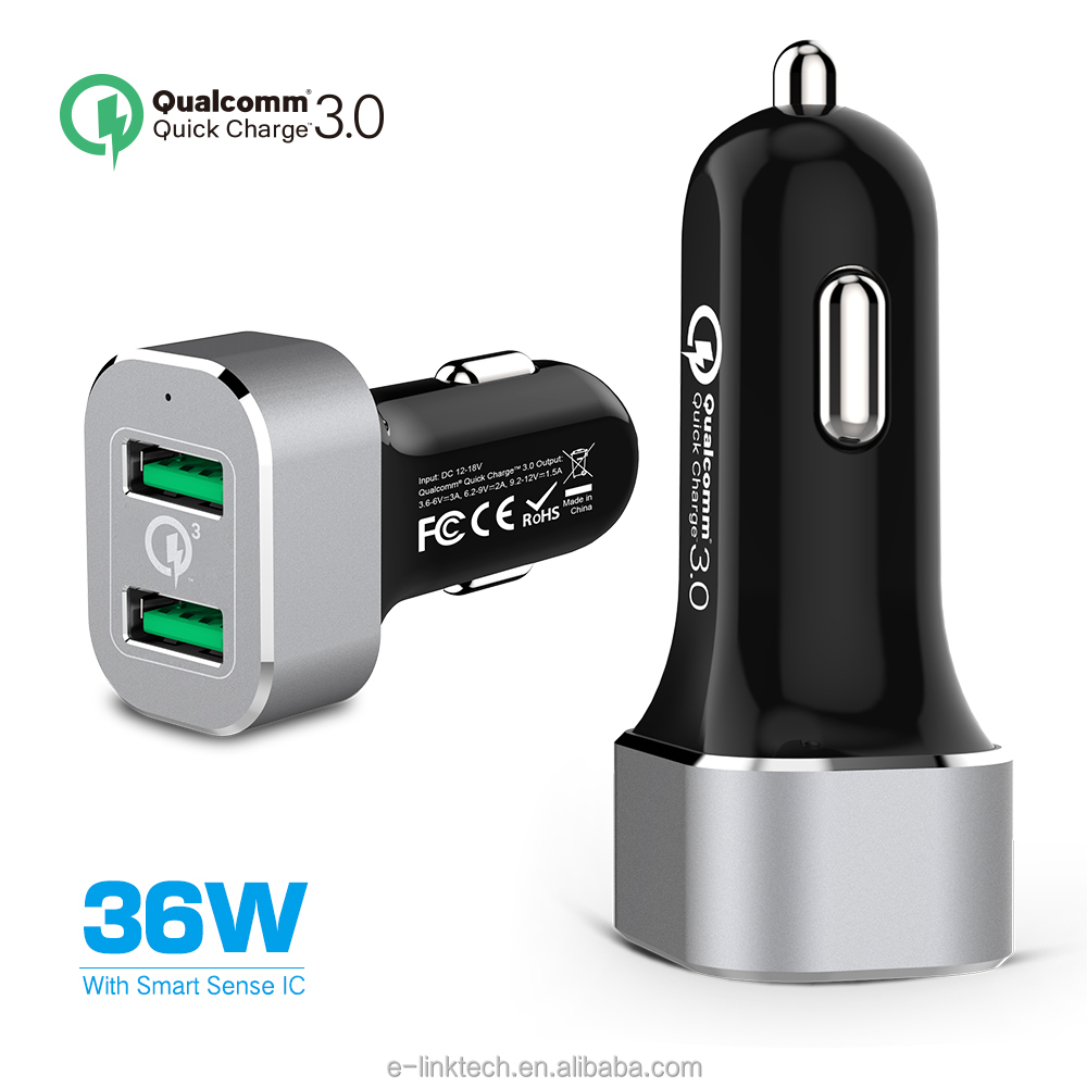 iFans 2 USB 36W output stable Quick Charge 3.0 Car Charger for Samsung Galaxy Note 7, Galaxy S7, S7 Edge with sence IQ TOUCH