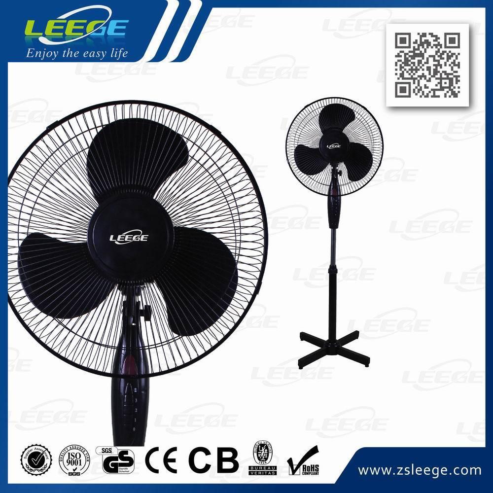 FS40-3 GS CE ROHS OEM high quality motor 45W plastic cooling 16 inch cheap pedestal stand fan