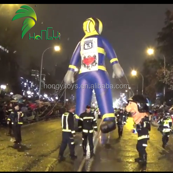 Hongyi Toys Tall Inflatable Fireman Custom Inflatable Policeman For Event
