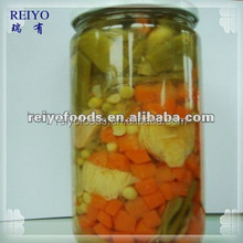 tins canned vegetables in brine