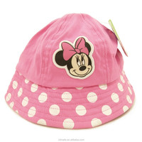 newest cartoon cute children sun Bucket hat Mickey Minnie Pots cap cotton printing embroidery kid brim Visor cap for girl boy