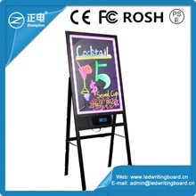 Battery led writable sign led illuminated pavement sign