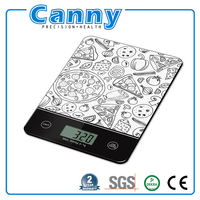 electronic smart glass kitchen weight scale 1g-5kg