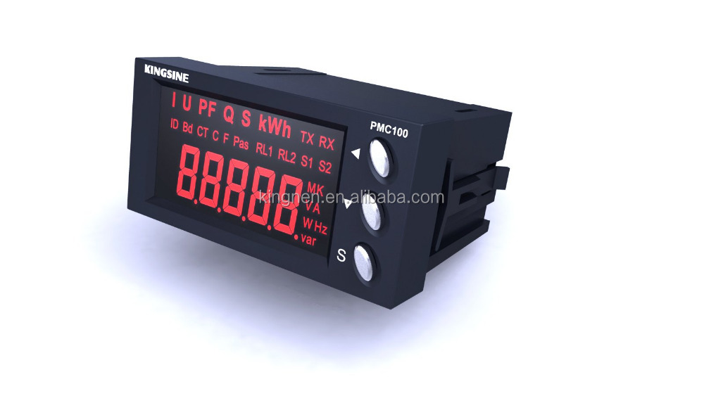 single phase digital power meter with rs485 modbus panel