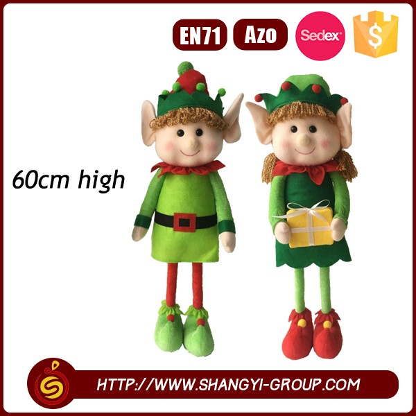Christmas lovely funny decorative elf plush toy manufacturer
