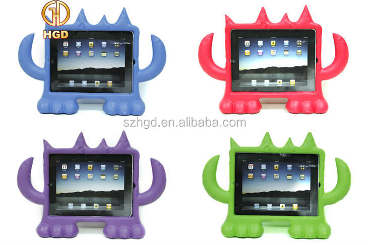 Child Proof Cute Monster Design Wholesale 3d Animal Case for iPad 3