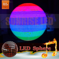 hd p4/p5/p6/p10 indoor Cree + Nichia + Epistar + Opto + Silan led chip sphere ball screen led display