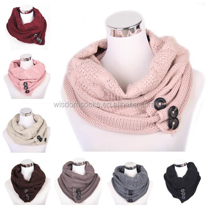 new fashion 100% acrylic knitted women scarf