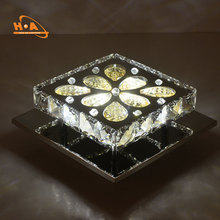 China Wholesale Flower Shape LED Crystal ceiling light