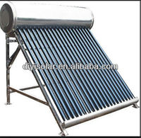 evacuated tube solar hot water heating all stainless steel non pressurized solar water heater