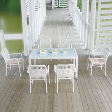 Nice design white color hd designs outdoor furniture dining set garden furniture