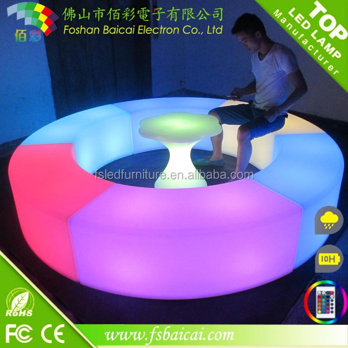 led light chair/led glowing chair