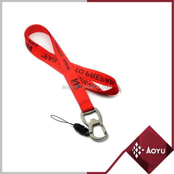 Personalized fashion red bottle opener key holders lanyrads