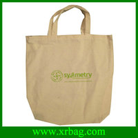 Simple cotton shopping tote bags jute bag