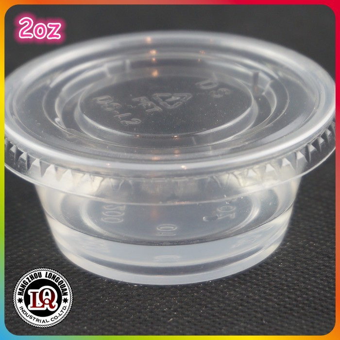 2oz pp portion disposable plastic cup