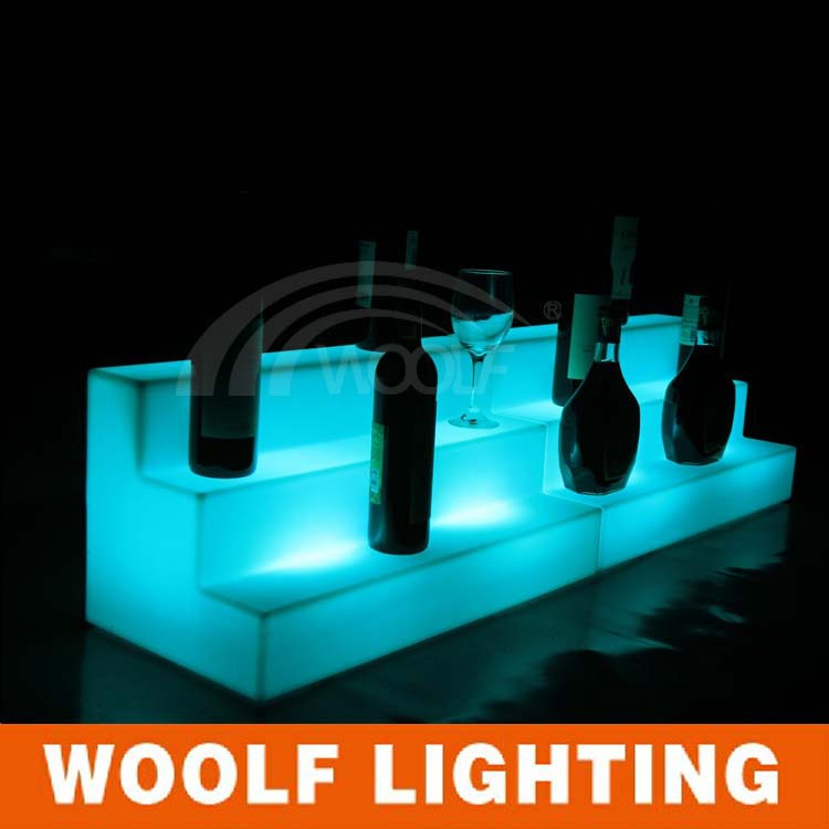 led commercial stairs wine show shelf