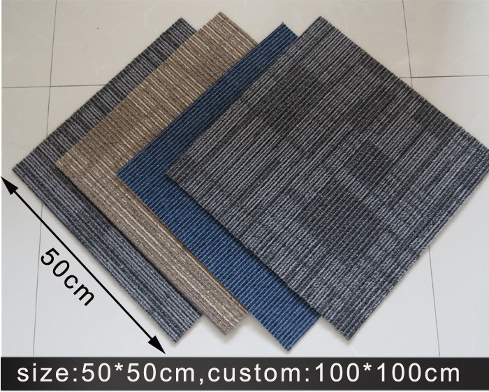 cheap price fireproof carpet square for school room