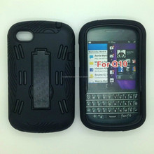 For Blackberry Q10 Kickstand Tablet PC Silicone Case Cover Skin