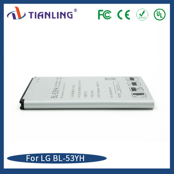 factory replace Phone Battery 3000mah BL-53YH lithium ion battery 3.8V for LG