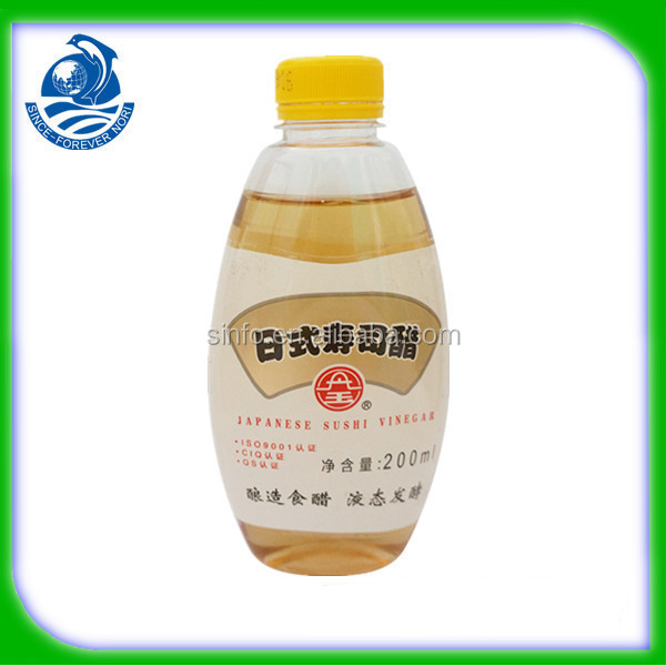 Certified Top Factory Natural Vinegar For Sushi 200ml Per Plastic Bottle