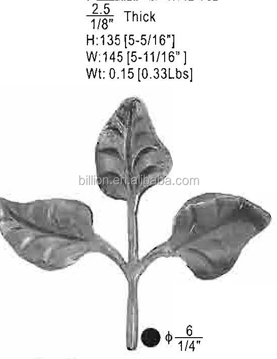 New style forged metal leaves design