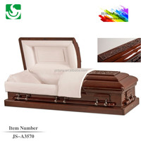 customized funeral velvet lining with American style casket