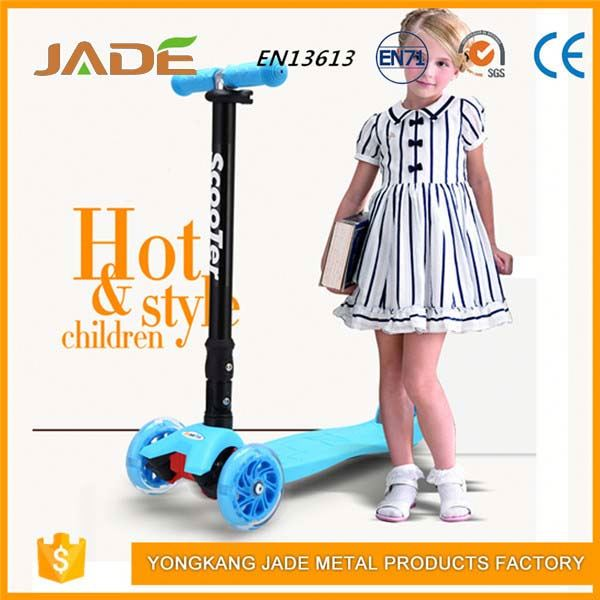 Two big PU wheels foldable children scooters aluminum pro kick scooter for kids